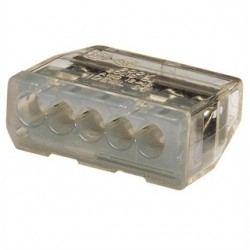 IDEAL Electrical / IDEAL Industries - 30-087J - Ideal 30-087J Wire Connector, Push-In, 5-Port, 20 - 12 AWG, Gray, 150/Jar