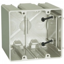 Allied Moulded - SB-2 - Allied Moulded SB-2 Switch/Outlet Box, 2-Gang, Adjustable, Depth: 3-9/16, Non-Metallic