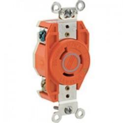 Leviton - 2330-IG - Leviton 2330-IG Sgl Lock Fl Recept-ig