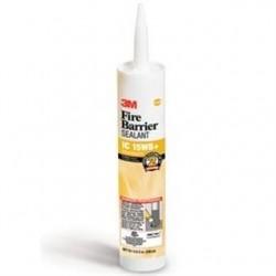 3M - IC-15WB+-10.1OZ - 3M IC-15WB+-10.1oz Yellow Fire Barrier Caulk, 10.1 Fl Oz Cartridge, Latex Based