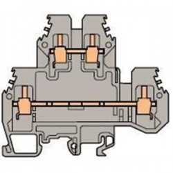 ABB - 0115 271.22 - ABB Entrelec 0115 271.22 Terminal Block, Feed Through, 6mm, Double Deck, Type: M 4/6.D2, Gray