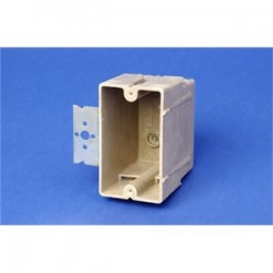 Allied Moulded - 1096-Z4 - Allied Moulded 1096-Z4 Switch/Outlet Box with Bracket, Depth: 3, 1-Gang, Non-Metallic