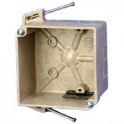Allied Moulded - 9338-ESC2 - Allied Moulded 9338-ESC2 3-1/2 Round Ceiling/Fixture Box, Depth: 2, Old Work, Non-Metallic