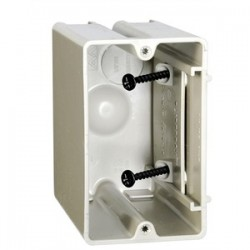 Allied Moulded - SB-1 - Allied Moulded SB-1 Switch/Outlet Box, 1-Gang, Adjustable, Depth: 3-9/16, Non-Metallic
