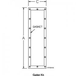 Pentair - AMOD7218FGK - Hoffman AMOD7218FGK Gasket Kit, Material: Rubber, Size: 72.12 x 18.12