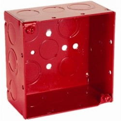 Hubbell - 911-3 - Raco Mounting Box - Red