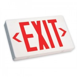 Simkar - 66-00012 - Simkar 66-00012 Exit Sign, LED, Red Letters, 4/8V
