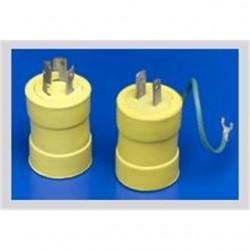 Molex - 1704 - Woodhead 1704 Safeway Adapter 5-15R Receptacle - Femalend, Non-Nema Plug - Male, 15A/125V