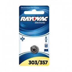 Rayovac - 303/357-1 - Rayovac 303/357-1 Battery, 1.5V, 303/357, Silver Oxide, Button Cell