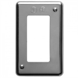 Eaton Electrical - DS21SA - Cooper Crouse-Hinds DS21SA Receptacle Cover, 1-Gang, Steel, Fits FS and FD Type Boxes, Aluminum