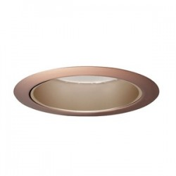Acuity Brands Lighting - 204WHZ-ABZ - Juno Lighting 204WHZ-ABZ Cone Trim, 5, BR/PAR30, Wh. Haze Reflector/Classic Aged Bronze Trim