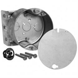 Hubbell - 294-1 - Hubbell-Raco 294-1 4 Octagon Ceiling Box, 2-1/8 Deep, KOs, Metallic