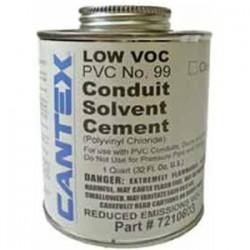 Cantex - 7210603 - Cantex 7210603 PVC Cement, No. 99, Clear, 1 Quart