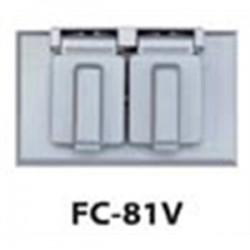 Teddico - FC-81V - BWF FC-81V 1 Gang Hor Dup Cov Gry