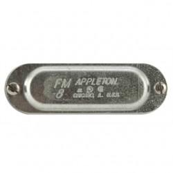 Appleton Electric - 280 - Appleton 280 Conduit Body Cover, 3/4 Form 8, Steel