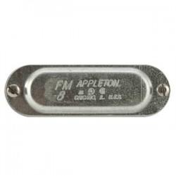 Appleton Electric - 180 - Appleton 180 Conduit Body Cover, Type: Screw-On, FM8, Size: 1/2, Steel