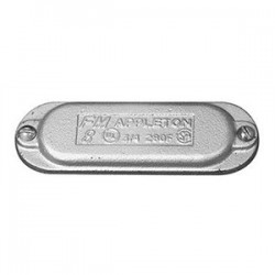 Appleton Electric - 380F - Appleton 380F Conduit Body Cover, Type: Wedge, Form 8, Size: 1, Material: Iron
