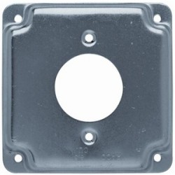 Appleton Electric - 8494 - Appleton 8494 4-11/16 Square Exposed Work Cover, (1) Single Receptacle