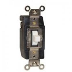 Leviton - 1081-W - Leviton 1081-W Momentary Contact Toggle Switch, 3A, 24V AC/DC, White