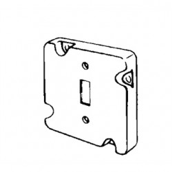 Appleton Electric - 8489 - Appleton 8489 4-11/16 Square Exposed Work Cover, (1) Toggle Switch