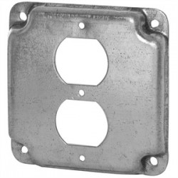 Appleton Electric - 8491N - Appleton 8491N 4-11/16 Square Exposed Work Cover, (1) Duplex Receptacle