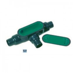 Perma-cote / Robroy - PMT27 - Perma-Cote PMT27 Conduit Body, Type T, Size: 3/4, Form 7, Steel/PVC Coated