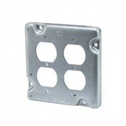 Appleton Electric - 8492N - Appleton 8492N 4-11/16 Square Exposed Work Cover, (2) Duplex Receptacle