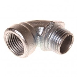 Hubbell - 1722 - Hubbell-Raco 1722 EMT Short Conduit Elbow, 1/2 inch, 90 Degree Material: Malleable Iron.