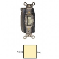 Leviton - 1081-I - Leviton 1081-I Momentary Contact Toggle Switch, 3A, 24V AC/DC, Ivory
