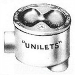 Appleton Electric - GRHLB100 - Appleton GRHLB100 Conduit Outlet Box, Type GRHLB, (2) 1 Hubs, Malleable Iron