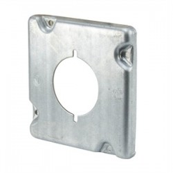 Appleton Electric - 8498 - Appleton 8498 4-11/16 Square Exposed Work Cover, (1) Single Receptacle