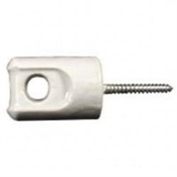 PPC Insulators - P8930 - PPC Insulators P8930 Wireholder, Screw Type, Eye Bolt, Length 3-3/32, Porcelain
