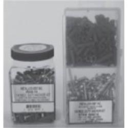 Metallics - WAK13 - Metallics WAK13 Anchor Kit, Red 3/16 Plastic Anchors, (100) 6 x 1 Pan Combo Screws, (1) Bit