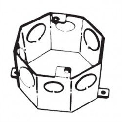 Thomas & Betts - 54531 1/2 3/4 - Steel City 54531 1/2 3/4 4 Octagon Concrete Box, 2 Deep, Drawn, 1/2 - 3/4 KOs, Steel