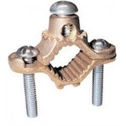 Greaves - G1 - Greaves G1 Ground Clamp, Water Pipe: 1/2 - 1, Wire Range: 10 - 2 AWG, Bronze