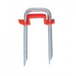Briscon - SN-150-I-B-3M - Briscon SN-150-I-B-3M Cable Staple, Red Plastic Insulator, 1/2 x 1-1/2, Steel