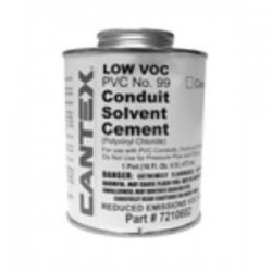 Cantex - 7210601 - Cantex 7210601 PVC Cement, No. 99, Clear, 1/2 Pint