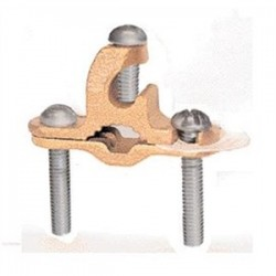 Greaves - G1RDB - Greaves G1RDB Bronze Rebar Ground Clamp, 3/8 - 1 Rebar, 10 to 2 AWG