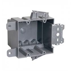 Pass & Seymour - S2-35-S50AC - Pass & Seymour S2-35-S50AC Switch/Outlet Box with Bracket, Depth: 3.375, 2-Gang, Non-Metallic