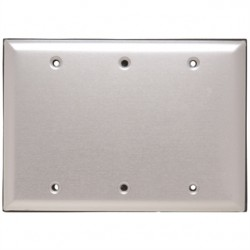 Pass & Seymour - WPB3 - Pass & Seymour WPB3 Blank Aluminum Cover with Gasket and Screws