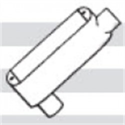 Mulberry Metal - 12858 - Mulberry Metal 12858 Conduit Body, Type: LB, Size: 3, Cover/Gasket, Aluminum