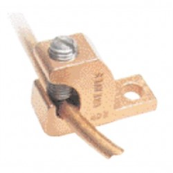 Greaves - BTL4-DB - Greaves BTL4-DB Lay-In Lug, Copper, 14 - 4 AWG, # 10 Stud Hole