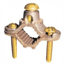 Greaves - G1BS - Greaves G1BS Water Pipe Ground Clamp, 1/2 - 1 Pipe, 10 - 2 AWG, Bronze