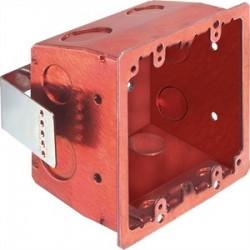 Arlington Industries - FSR404SRD - Arlington FSR404SRD Retrofit 2-Gang Stl Box Red
