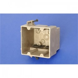 Allied Moulded - 2300-SSK - Allied Moulded 2300-SSK Switch/Outlet Box, 2-Gang, Depth: 3, Nail-On, Non-Metallic