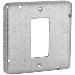 Appleton Electric - 8484 - Appleton 8484 4-11/16 Square Exposed Work Cover, (1) GFCI/Decora Receptacle