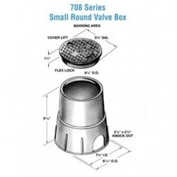 Oldcastle Precast - 0708-9-BLK-GRN-ELEC - Oldcastle Precast 0708-9-BLK-GRN-ELEC Round Pull Box, Diameter: 6-1/8, Depth: 8-3/4, Polyethylene