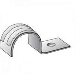 Emerson - 14-100S - OZ Gedney 14-100S Rigid Pipe Strap, 1-Hole, Size: 1, Material/Finish: Steel/Zinc