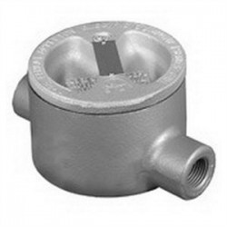 Appleton Electric - GRHC75 - Appleton GRHC75 Conduit Outlet Box, Type GRHC75, (2) 3/4 Hubs, Malleable Iron