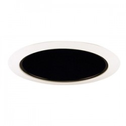 Acuity Brands Lighting - 206B-WH - Juno Lighting 206B-WH Cone Trim, Deep, 5, BR30/PAR30, Black Alzak Reflector/White Ring